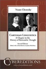 Cartesian linguistics by Noam Chomsky