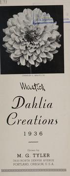 Mastick dahlia creations, 1936