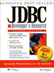 JDBC developer's resource PDF