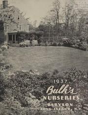 Bulks Nurseries, 1937