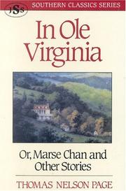 In ole Virginia by Thomas Nelson Page