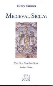 Medieval Sicily by Henry Barbera