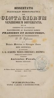 Dissertatio inauguralis medico-practica de contagiorum venereorum differentia