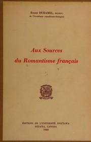 Aux sources du romantisme français