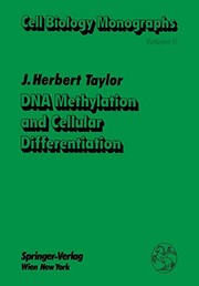 DNA Methylation and Cellular Differentiation