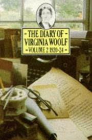 Cover of: Diary of Virginia Woolf, the - V.2 1920-24 (Penguin Classics) by Virginia Woolf