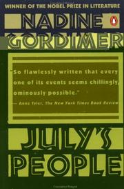July's people by Gordimer, Nadine.
