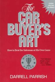 The car buyer's art by Darrell Parrish