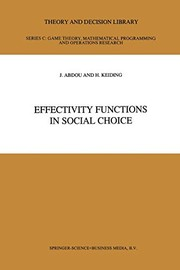 Effectivity Functions in Social Choice