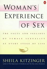 Woman's experience of sex PDF