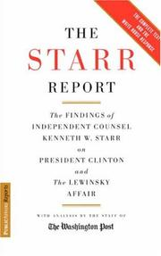 The Starr report by Kenneth Starr
