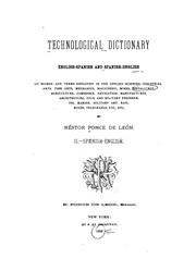 Diccionario tecnológico inglés-español y español-inglés de los términos y frases usados en las ...