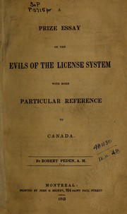 A prize essay on the evils of the license system