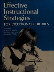 Effective Instructional Strategies for Exceptional Children