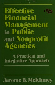 Effective financial management in public and nonprofit agencies