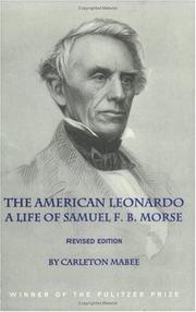 The American Leonardo by Carleton Mabee
