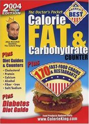The Doctor&#39;s Pocket Calorie, Fat &amp; Carbohydrate Counter by Allan Borushek