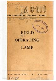 Field Operating Lamp
