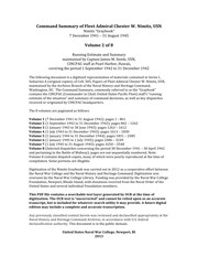 Command Summary of Fleet Admiral Chester W. Nimitz, USN : Nimitz Graybook : 7 December 1941-31 August 1945