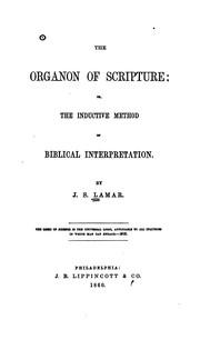 The organon of Scripture