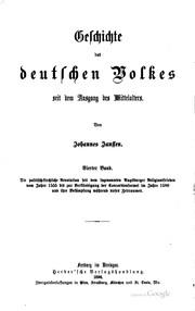 Geschichte des deutschen Volkes seit dem Ausgang des Mittelalters
