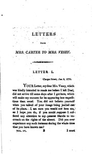 A series of letters between Mrs. Elizabeth Carter and Miss Catherine Talbot, from the year 1741 to 1770