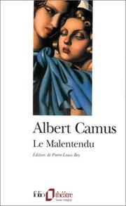 Cover of: Le malentendu by Albert Camus