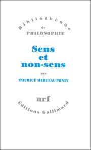 Sens et non-sens by Maurice Merleau-Ponty