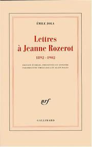 Lettres  Jeanne Rozerot by mile Zola