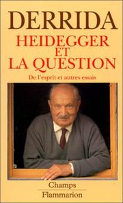 Heidegger et la question by Jacques Derrida