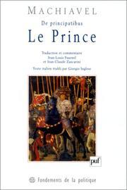 Le Prince. Nicolas Machiavel.