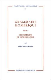 Grammaire homrique by Pierre Chantraine