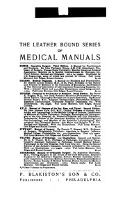 A Manual of Surgery for Students and Physicians