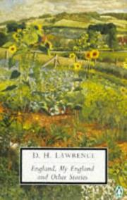 Cover of: England, my England and other stories by D. H. Lawrence