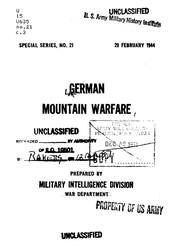German Mountain Warfare