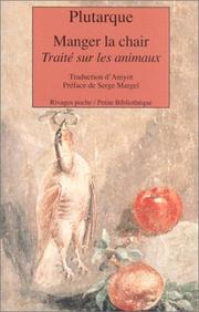 Cover of: Manger la chair by Plutarch