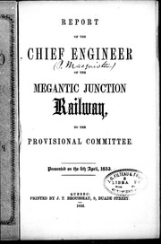 Report of the chief engineer of the Megantic Junction Railway, to the provisional committee