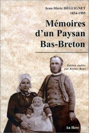 Mmoires d&#39;un paysan bas-breton by Jean-Marie Dguignet