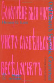 Old church Slavonic grammar by Horace Gray Lunt