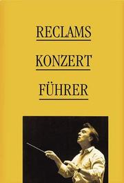 Reclams Konzertfuhrer by Hans Renner