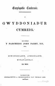 Encyclopædia Cambrensis = y gwyddoniadur Cymreig