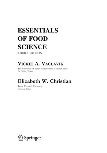 Image for Essentials of Food Science (Food Science Text Series)