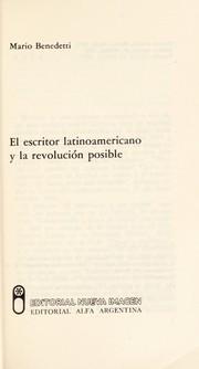El escritor latinoamericano y la revolución posible