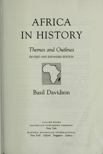 The Africa in History