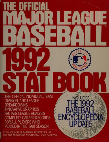 The Official Major League Baseball 1992 Stat Book