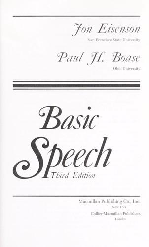 Basic Speech