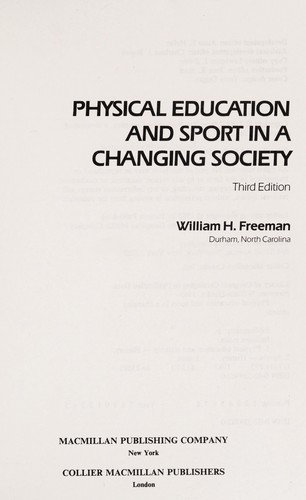 Physical Education and Sport in a Changing Society