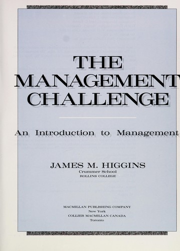 The Management Challenge