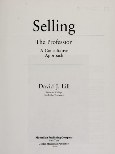 Selling, the Profession