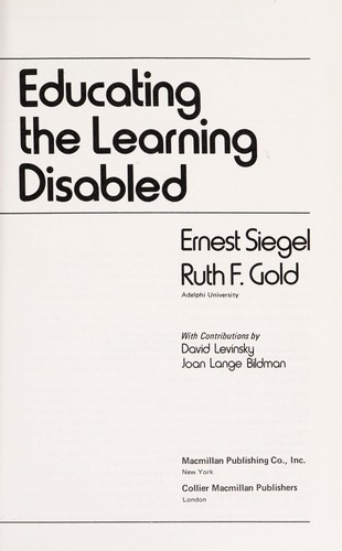 Educating the Learning Disabled
